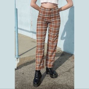 SOLD // NWT Brandy Melville Plaid Kim Pants